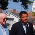 Hwang Attends Groundbreaking Ceremony for Newtown Memorial Sidewalk